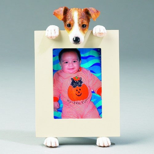 Jack Russell Terrier Dog Picture Frame Holder