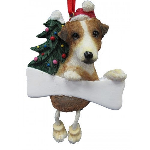 Dangling Leg Jack Russell Terrier Dog Christmas Ornament