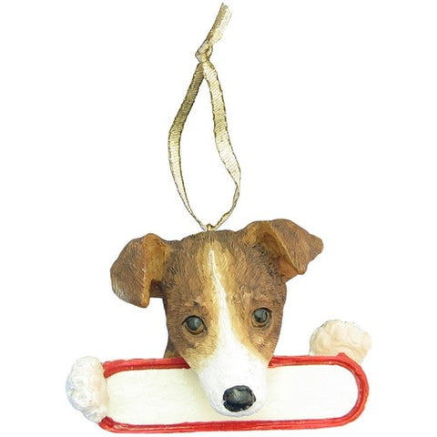 Jack Russell Santa's Pal Christmas Ornament