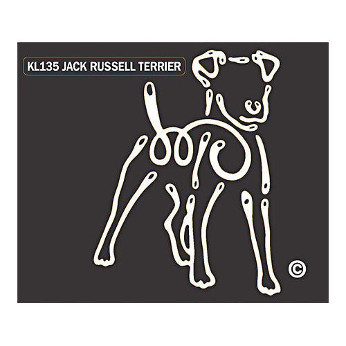 K Lines Jack Russell Terrier Window Tattoo Decal