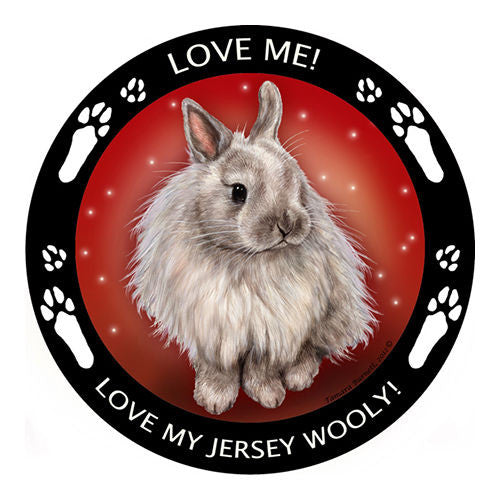 Jersey Wooly Rabbit Is My Best Friend Dog Breed Magnet