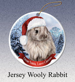 Jersey Wooly Rabbit Howliday Dog Christmas Ornament