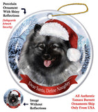 Keeshond Howliday Dog Christmas Ornament