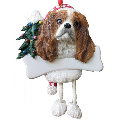 Dangling Leg Cavalier King Charles Spaniel Dog Christmas Ornament