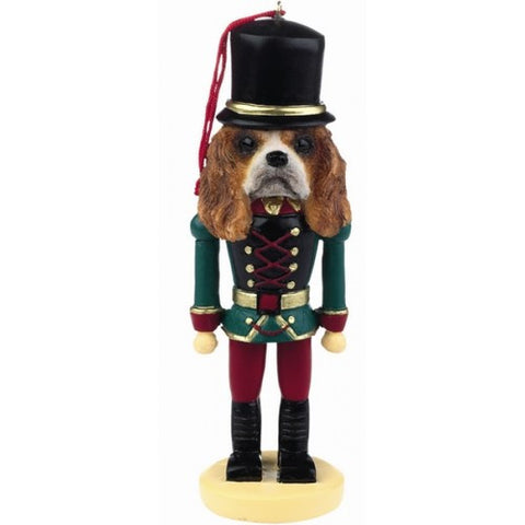 Cavalier King Charles Spaniel Dog Toy Soldier Nutcracker Christmas Ornament