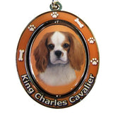 Cavalier King Charles Spaniel Dog Spinning Keychain