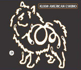 K Line American Eskimo Dog Window Decal Tattoo