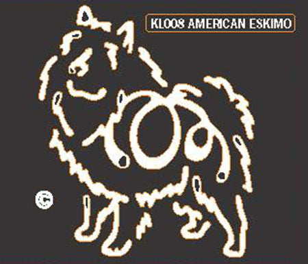 American Eskimo K Lines Window Decal Tattoo