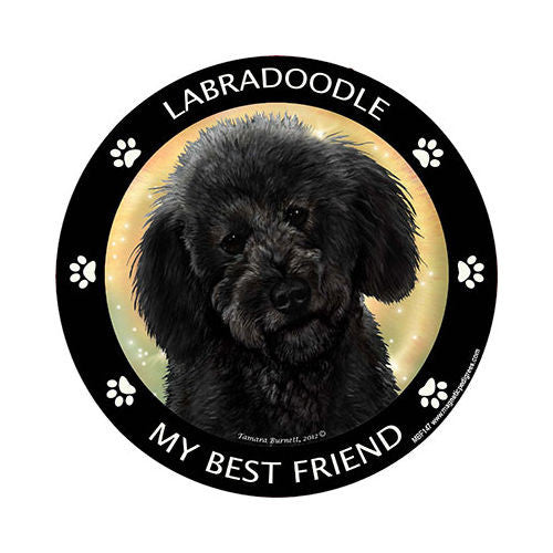 Labradoodle Black My Best Friend Dog Breed Magnet