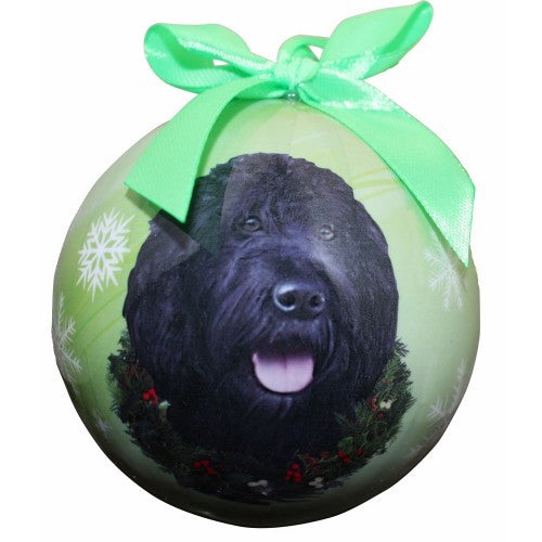 Labradoodle Shatterproof Dog Christmas Ornament