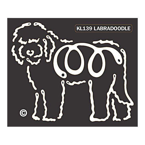 K Lines Labradoodle Window Tattoo Decal