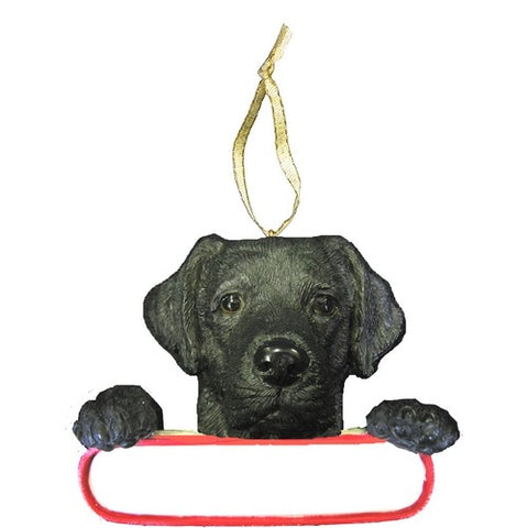 Labrador Black Santa's Pal Christmas Ornament