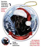Labrador Black Howliday Dog Christmas Ornament