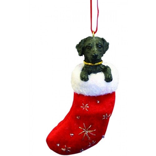 Santa's Little Pals Labrador Retriever Black Christmas Ornament