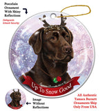 Labrador Chocolate Howliday Dog Christmas Ornament