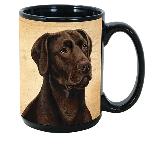 Faithful Friends Labrador Retriever Chocolate Dog Breed Coffee Mug