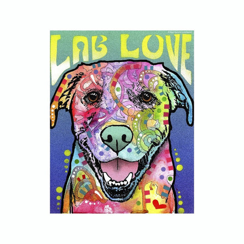 Labrador Love Dean Russo Vinyl Dog Car Sticker