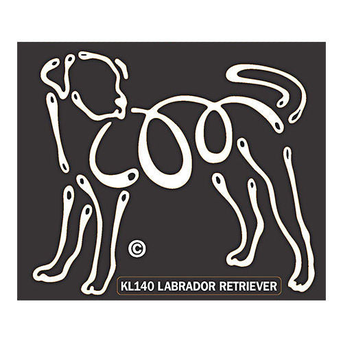 K Lines Labrador Retriever Window Tattoo Decal