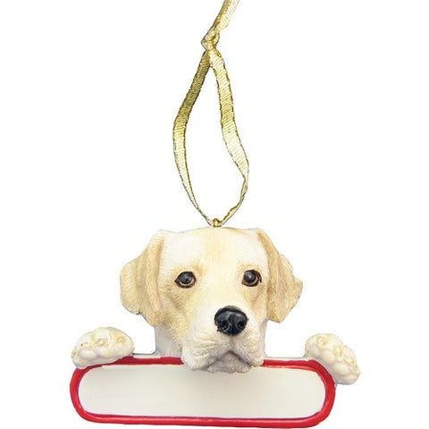 Labrador Yellow Santa's Pal Christmas Ornament