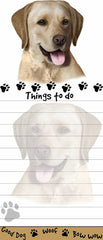 Labrador Yellow List Stationery Notepad