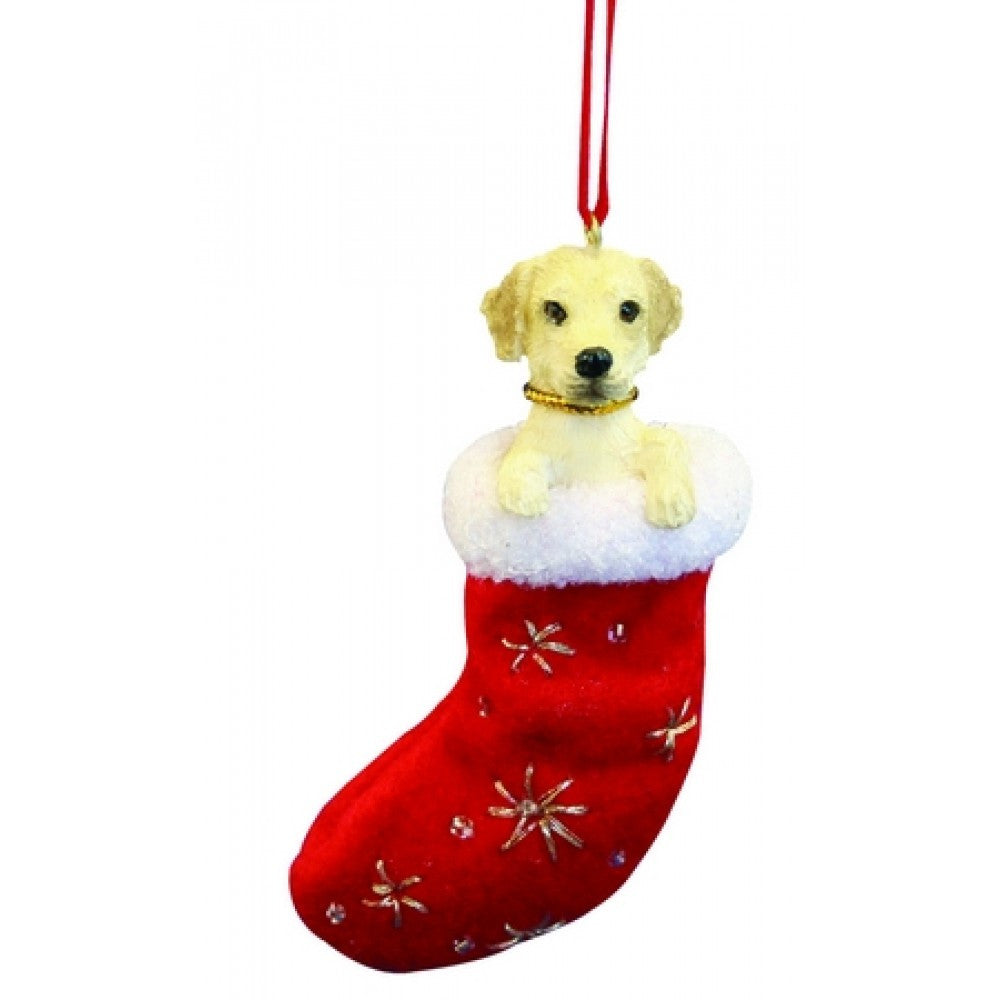 Santa's Little Pals Labrador Retriever Yellow Christmas Ornament