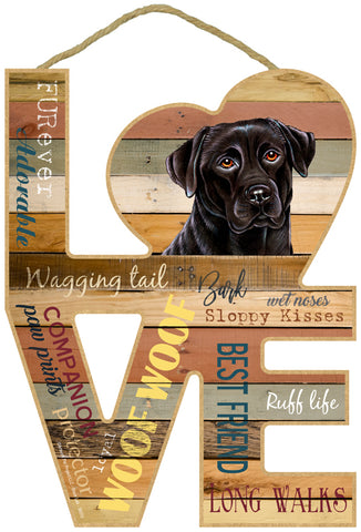 Labrador Retriever Assorted Love Sign