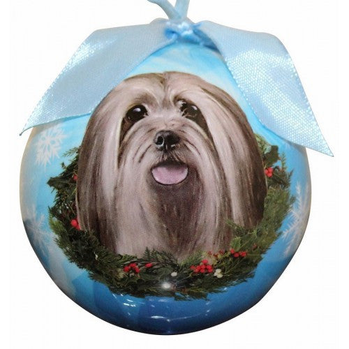 Lhasa Apso Shatterproof Dog Breed Christmas Ornament
