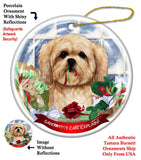 Lhasa Apso Howliday Dog Christmas Ornament