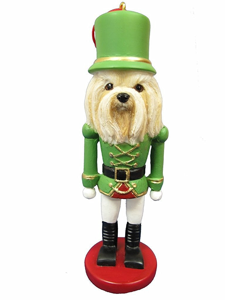 lhasa apso dog toy soldier nutcracker christmas ornament