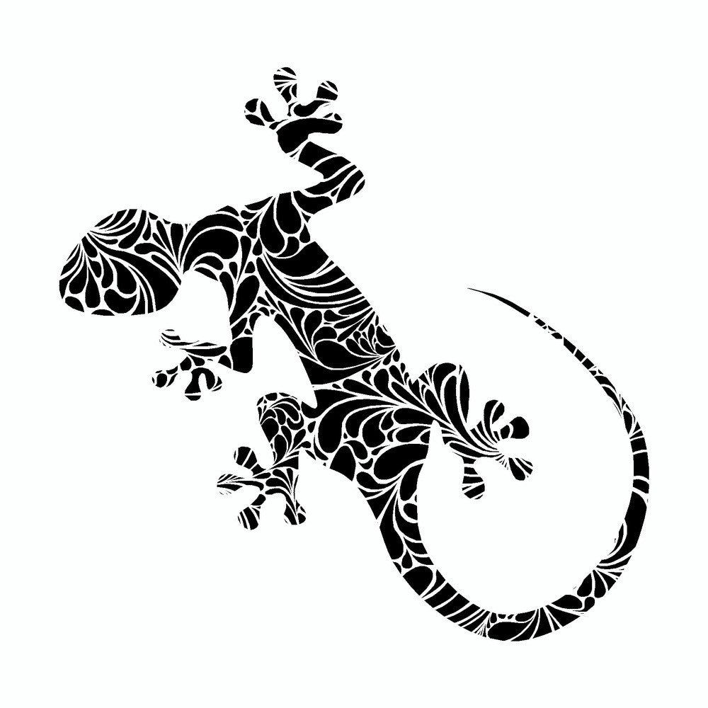 Gecko Lizard Black Tribal Vinyl Car Sticker