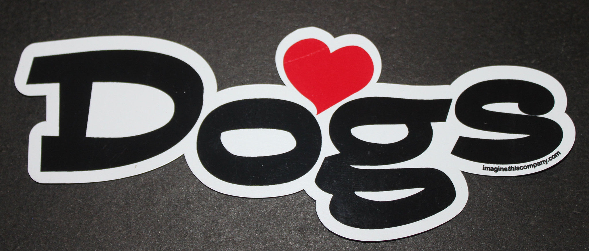 Love Dogs Dog Word Car Magnet