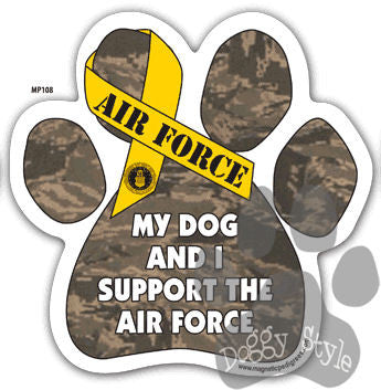 My Dog and I Support the Air Force Paw Magnet