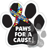 Paws For A Cause Autism Awareness Dog Paw Magnet