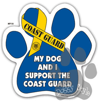 My Dog and I Support the Coast Guard