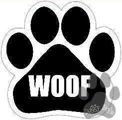 Woof Dog Paw Magnet