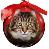 Maine Coon Cat Breed Shatterproof Christmas Ornament