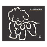 K Line Maltese Dog Car Window Decal Tattoo