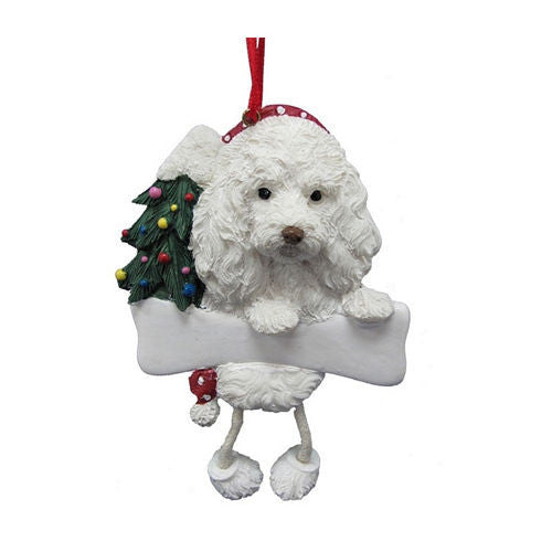 Dangling Leg Maltipoo Dog Christmas Ornament