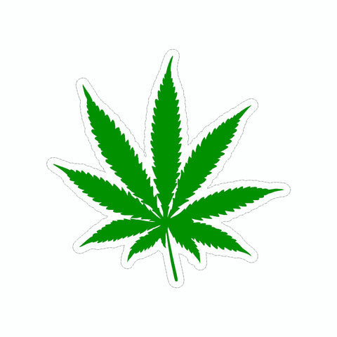 Marijuana Leaf Vinyl Car Sticker