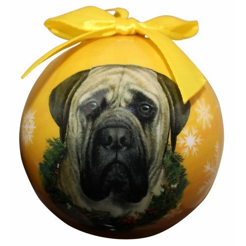Mastiff Shatterproof Dog Breed Christmas Ornament