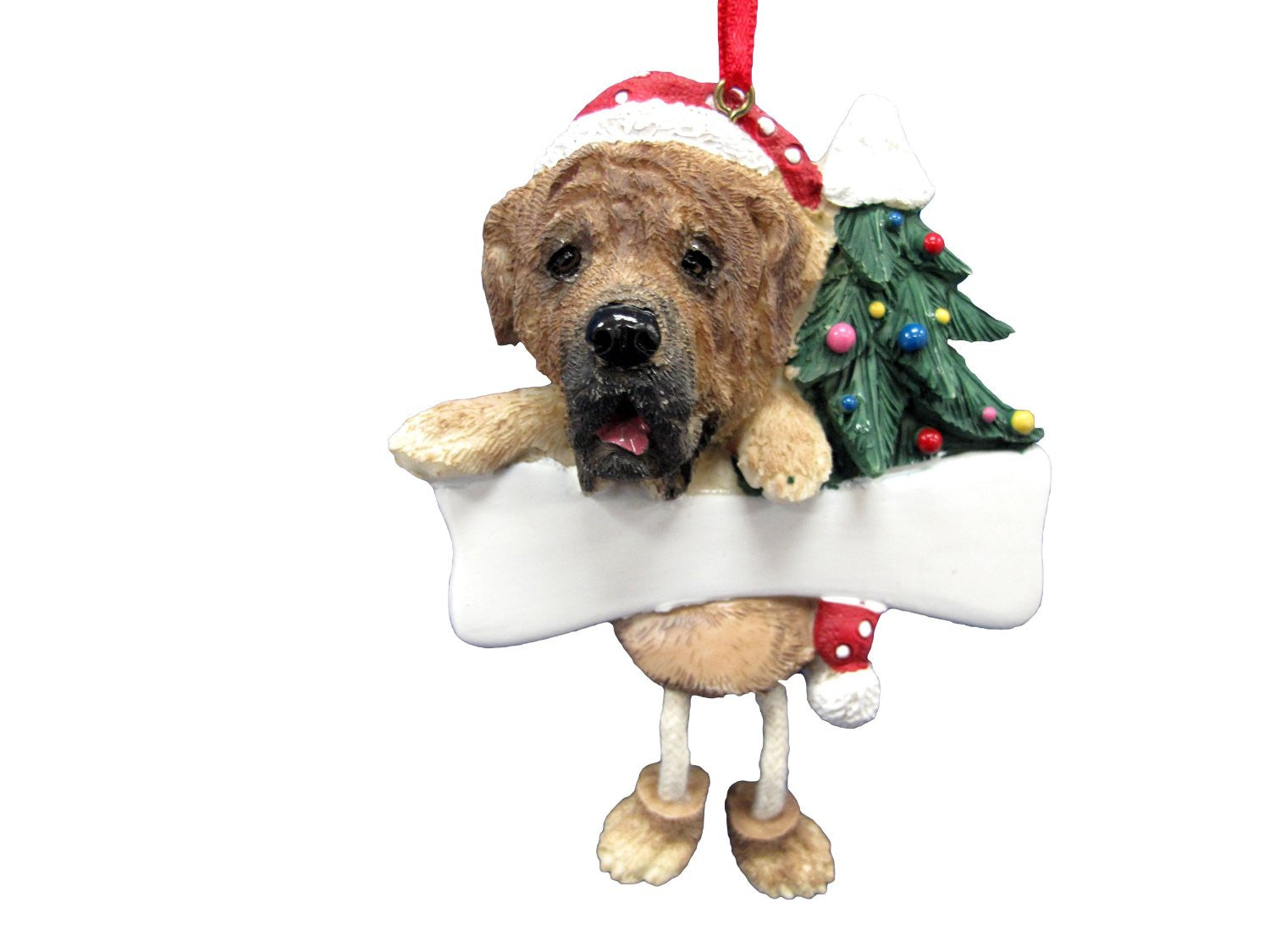 Dangling Leg Mastiff Dog Christmas Ornament