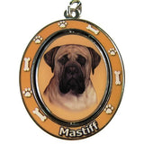 Mastiff Dog Spinning Keychain