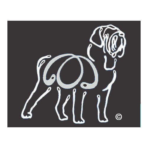 K Line Mastiff Dog Car Window Decal Tattoo