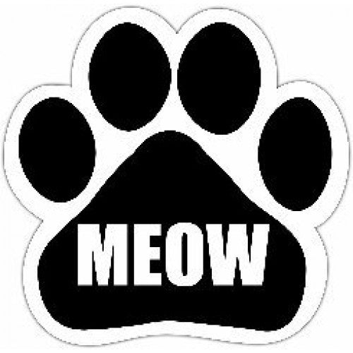 Meow Dog Paw Magnet