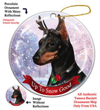 Miniature Pinscher Min Pin Black Howliday Dog Christmas Ornament