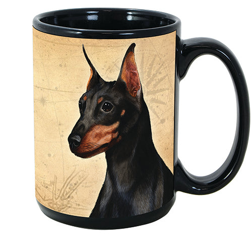 Faithful Friends Miniature Pinscher Min Pin Black Dog Breed Coffee Mug