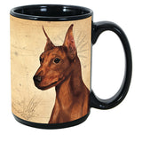 Faithful Friends Miniature Pinscher Min Pin Dog Breed Coffee Mug