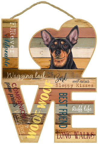 Miniature Pinscher Min Pin Love Sign