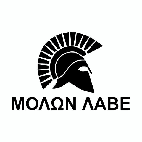Molon Labe Spartan Helmet Black Come And Take It 2nd Amendment Car Sticker