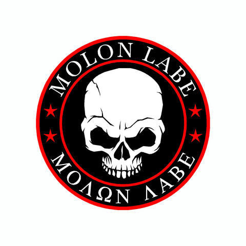 Molon Labe Skull Black Come And Take It 2nd Amendment Car Sticker